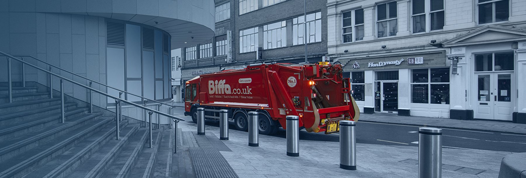 Biffa Business Waste truck, New Street Station Birmingham