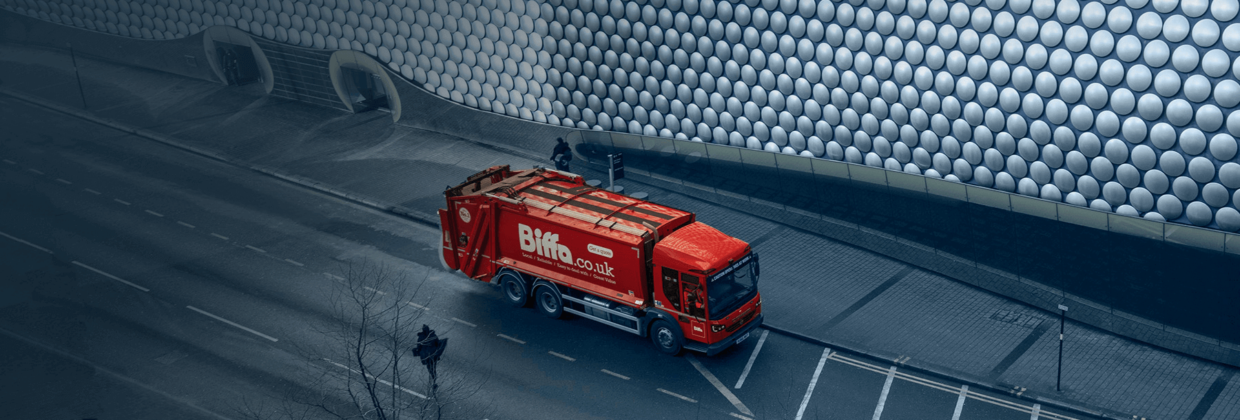 Biffa Bin Lorry by Selfridges Brimingham