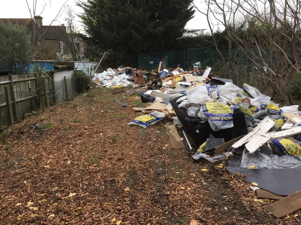 Fly tipped waste