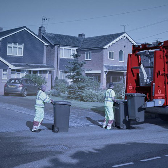 Biffa employees collecting waste