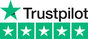 Trustpilot 5 star logo black text