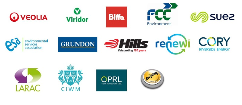 various company logos in waste industry