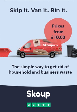 Skoup skip hire , man and van and bagged waste removal service
